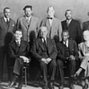 Defendants And Naacp Counsel Print by Everett