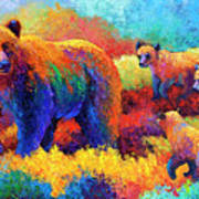 Denali Family Print by Marion Rose