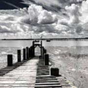 Derelict Wharf Print by Avalon Fine Art Photography