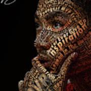 Derrick Rose Typeface Portrait Print by Dominique Capers