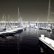 Dock In The Port Print by John Rizzuto
