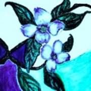 Dogwood Purple Print by Marsha Heiken