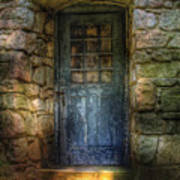 Door - A Rather Old Door Leading To Somewhere Print by Mike Savad