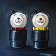 Double Dog Dare Print by Cindy Cradler
