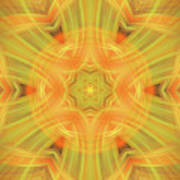Double Star Abstract Print by Linda Phelps