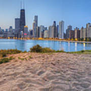 Downtown Chicago From North Beach Print by Twenty Two North Photography