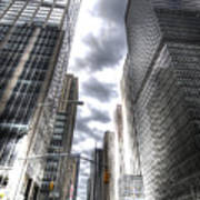Downtown Hdr Print by Robert Ponzoni