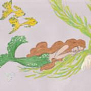 Dreaming Mermaid Print by Rosalie Scanlon