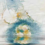 Dreamy World In Blue Print by Deborah Benoit