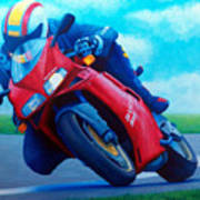 Ducati 916 Print by Brian  Commerford
