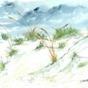 Dunes 3 Seascape Beach Painting Print Print by Derek Mccrea