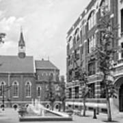 Duquesne University Chapel And Canevin Hall Print by University Icons