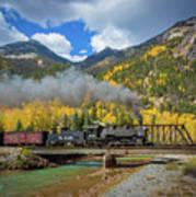 Durango-silverton Twin Bridges Print by Inge Johnsson