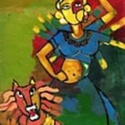 Durga Print by Abdus Salam