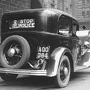 Early Police Car Print by Topical Press Agency