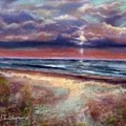 Early September Beach Print by Peter R Davidson