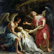 Ecstasy Of Mary Magdalene Print by Peter Paul Rubens