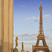 Eiffel Tower Paris Trocadero  Print by Melanie Viola