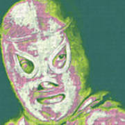 El Santo The Masked Wrestler 20130218v2m80 Print by Wingsdomain Art and Photography