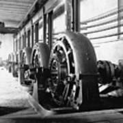 Electrical Generators In Edison Sault Print by Everett