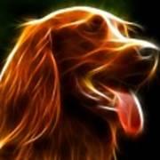 Electrifying Dog Portrait Print by Pamela Johnson