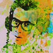 Elvis Costello Print by Naxart Studio