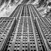 Empire State Building Black And White Print by John Farnan