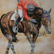 Eric Lamaze And Hickstead Print by David McEwen