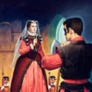 Execution Of Mary Queen Of Scots Print by English School