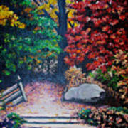 Fall In Quebec Canada Print by Karin  Dawn Kelshall- Best