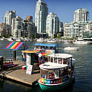 False Creek In Vancouver Print by Tom Buchanan