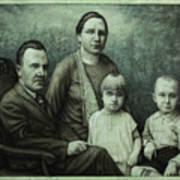 Family Portrait Print by James W Johnson