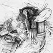 Fantasy Drawing 3 Print by Svetlana Novikova