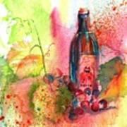 Fat Cat Wine Print by Sharon Mick