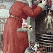 Father Christmas Print by Karl Roger