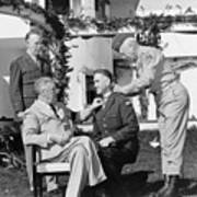 Fdr Presenting Medal Of Honor To William Wilbur Print by War Is Hell Store