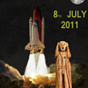 Final Shuttle Mission 8th July 2011 Print by Eric Kempson