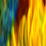 Fire And Water Print by Amy Vangsgard