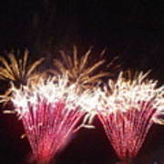 Fire Works Show Stippled Paint 7 Canada Print by Dawn Hay