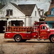 Fireman - Newark Fire Company Print by Mike Savad