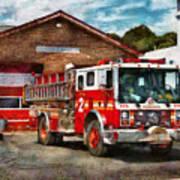 Fireman - Union Fire Company 1  Print by Mike Savad