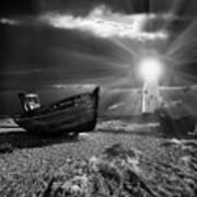 Fishing Boat Graveyard 7 Print by Meirion Matthias