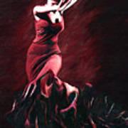 Flamenco Swirl Print by James Shepherd