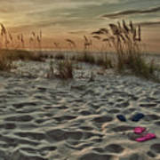 Flipflops On The Beach Print by Michael Thomas