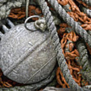 Float And Fishing Nets Print by Carol Leigh