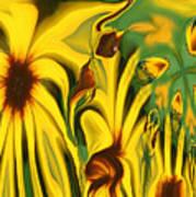 Flower Fun Print by Linda Sannuti