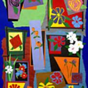 Flowers Study 1 Print by Teddy Campagna