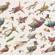 Flying Print by Kestutis Kasparavicius