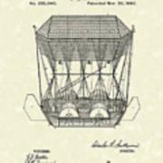 Flying Machine 1880 Patent Art Print by Prior Art Design
