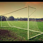 Football Goal Print by Federico Scotto